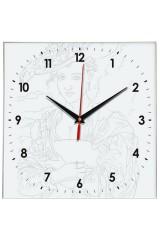 Часы раскраска Дама