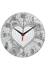 Часы раскраска Сердце