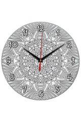 Часы раскраска Солнце