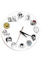 Часы Тролл фейс стеклянные Тролл фейс