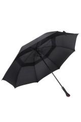 Зонт трость двойной с ручкой Черный