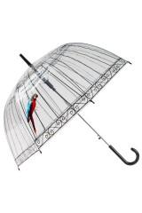 Зонт трость Клетка с попугаем