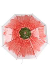 Зонт купол Цветок красный