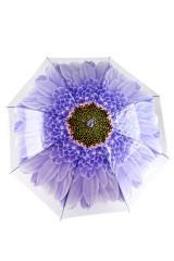 Зонт купол Цветок синий