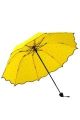 Зонт хамелеон Капельки желтый