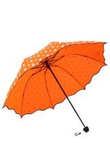 Зонт хамелеон Капельки оранжевый