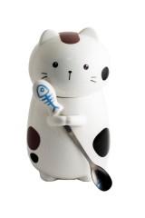 Кружка с ложкой Кот с ложкой