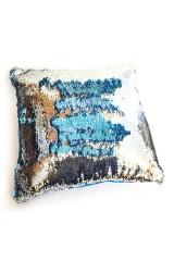 Подушка хамелеон Синий квадрат