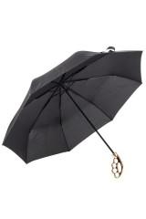 Зонт Черный с золотой ручкой