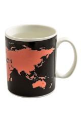 Кружка хамелеон Карта мира