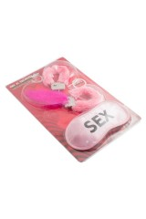 Набор для взрослых Наручники и повязка розовый