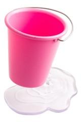 Подставка под ручки Ведерко розовое