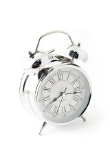 Часы будильник Серебро