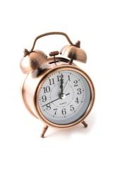Часы будильник Медь