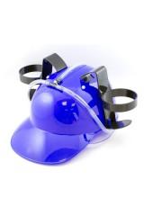 Каска с подставкой под банки Синяя