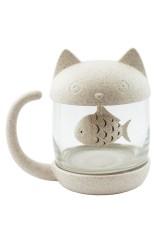 Кружка с ситечком Кот