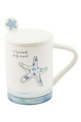 Кружка с ложкой Морские глубины - Звезда