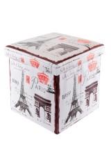 Пуф складной с ящиком для хранения Эйфелева башня