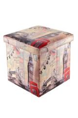 Пуф складной с ящиком для хранения Лондон Биг Бен