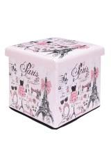 Пуф складной с ящиком для хранения Париж - мода