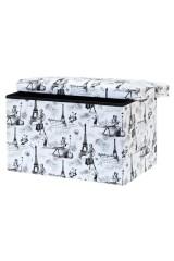 Пуф складной с ящиком для хранения Модный Париж