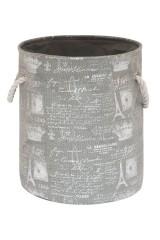 Кофр складной для хранения Париж серебро