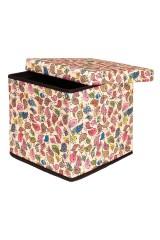 Пуф складной с ящиком для хранения Птички