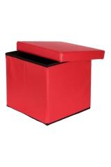 Пуф складной с ящиком для хранения Красный