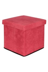 Пуф складной с ящиком для хранения Коралловый