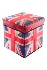 Пуф складной с ящиком для хранения Британский флаг