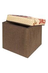 Пуф складной с ящиком для хранения Сова на ветке