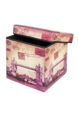 Пуф складной с ящиком для хранения Тауэрский мост