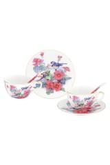 Чайная пара Синички в цветах