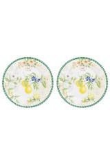 Набор десертных круглых тарелок Лимоны