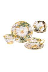 Чайный набор Белый шиповник на золоте