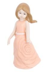 Фигурка декоративная Девочка в коралловом платье