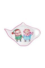 Розетка - подставка под чайный пакетик Парочка свинок
