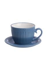 Чашка с блюдцем для капучино и латте Пастель