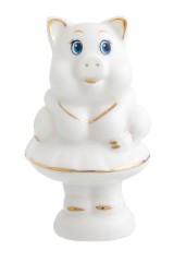 Фигурка декоративная Свинка в белом платье