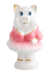 Фигурка декоративная Свинка в розовом платье