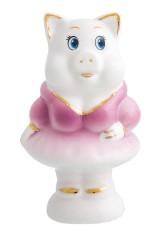 Фигурка декоративная Свинка в фиолетовом платье