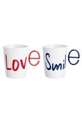 Набор кружек LOVE+SMILE