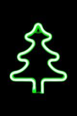Светильник настенный неоновый Елка зеленая