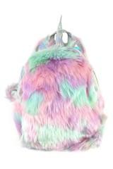 Пушистый рюкзак Единорог
