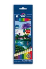 Набор цветных карандашей 18шт ВОЗДУШНЫЕ ШАРЫ