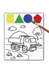 Раскраска с красками и волшебным контуром ДЛЯ МАЛЬЧИКОВ
