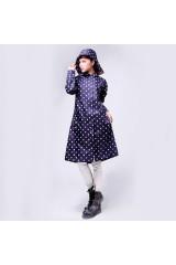 Дизайнерский женский дождевик Bearcat синий