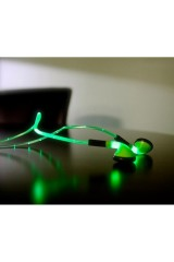 Светящиеся наушники LED зеленый