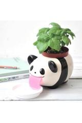 Кашпо с автополивом Звери на водопое (панда)
