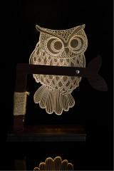 3D LED светильник Owl